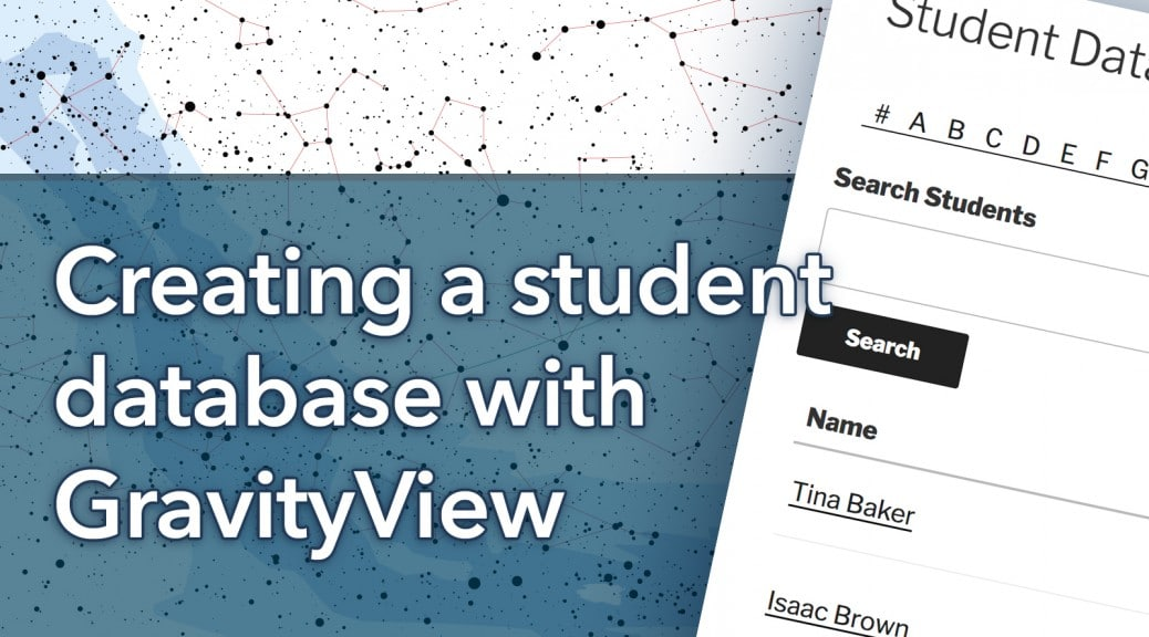 Creating a student database