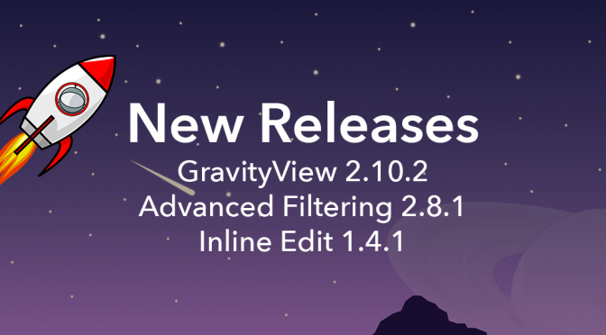 GravityView three new releases featured image