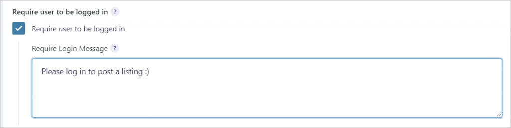 Gravity Forms require user to be logged in checkbox