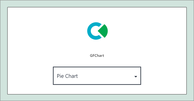 """Dropdown menu with """"Pie Chart"""" selected"""