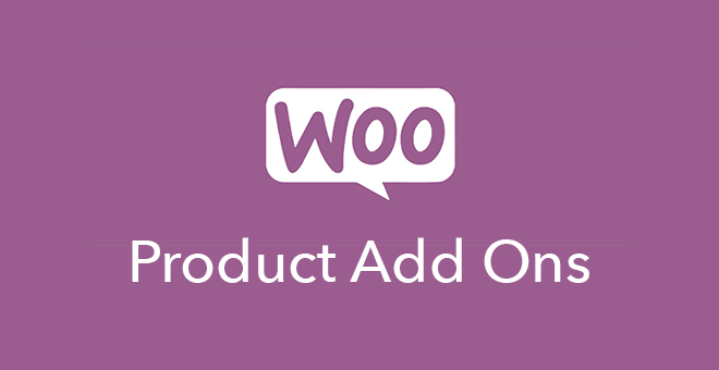"""""""Woo Product Add-Ons"""" on a purple background"""