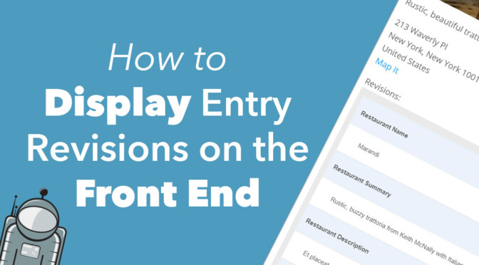 how to display entry revisions on the front end