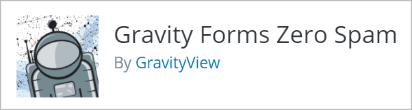 The Gravity Forms Zero Spam plugin by GravityView