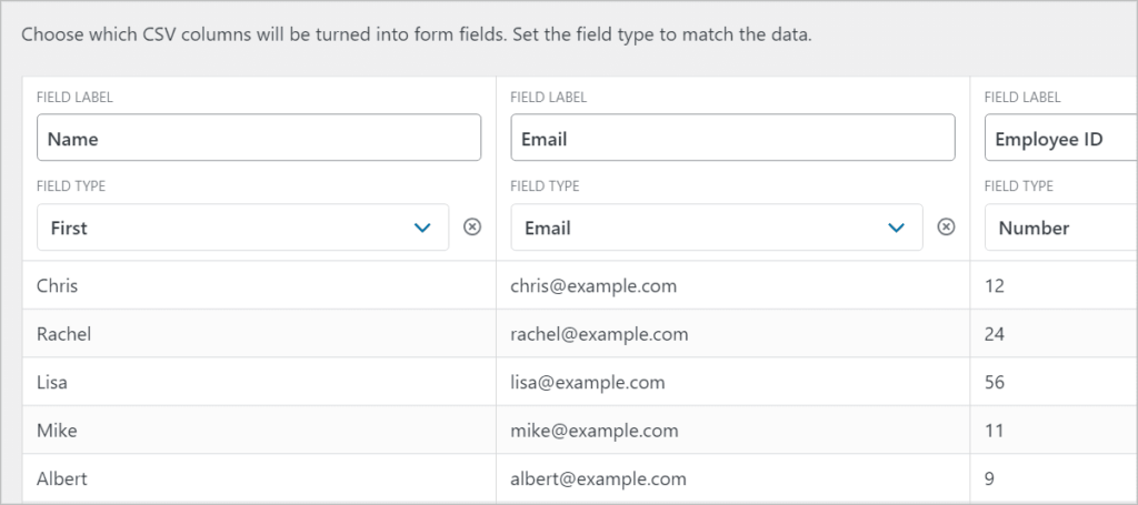 Mapping fields in Import Entries