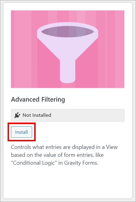 GravityView Advanced Filtering extension