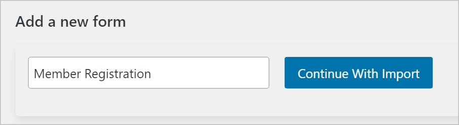 The 'Continue With Import' button